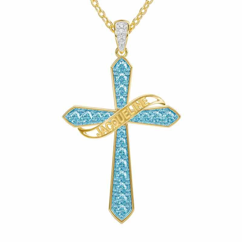 The Birthstone  Diamond Cross Necklace 6787 001 4 3
