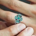 Mens Turquoise Cross Ring 10420 0019 m model