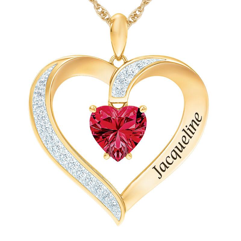 The Birthstone Heart Pendant 6015 0026 g july