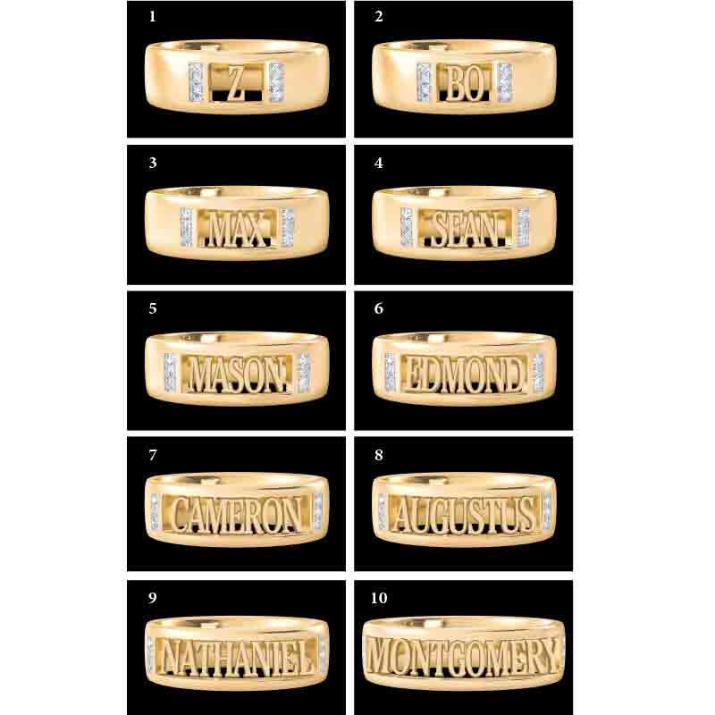Personalized Custom Cut Ring 4928 005 0 2