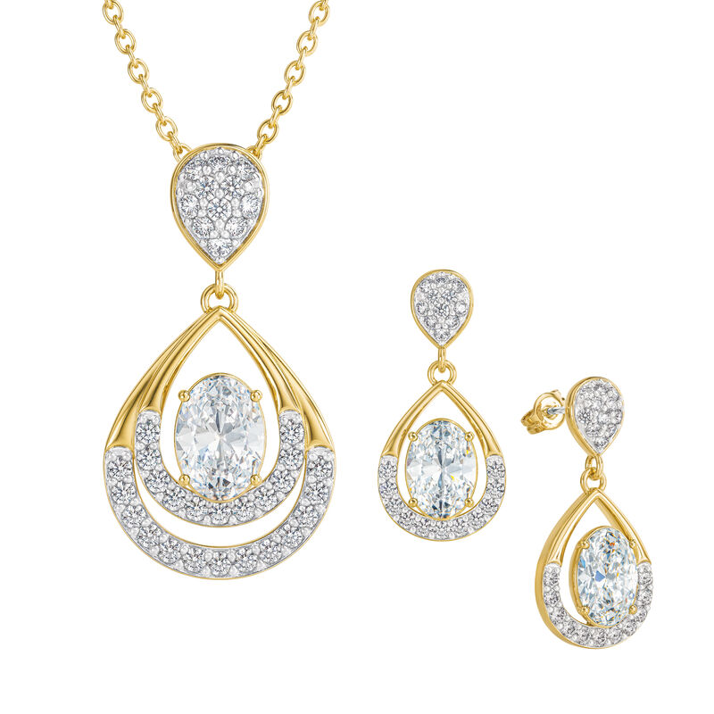 Birthstone Necklace Earring Set 6930 0010 d april
