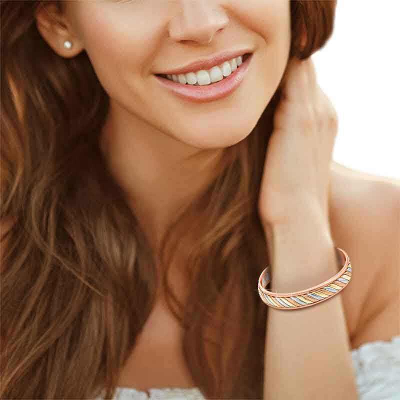 Copper Trinity Braided Magnetic Bangle 2135 001 2 3