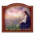 God Bless This Home Personalized Welcome Sign 5977 002 4 1