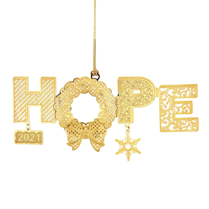 2021 Gold Christmas Ornament Collection 2798 0028 e hope