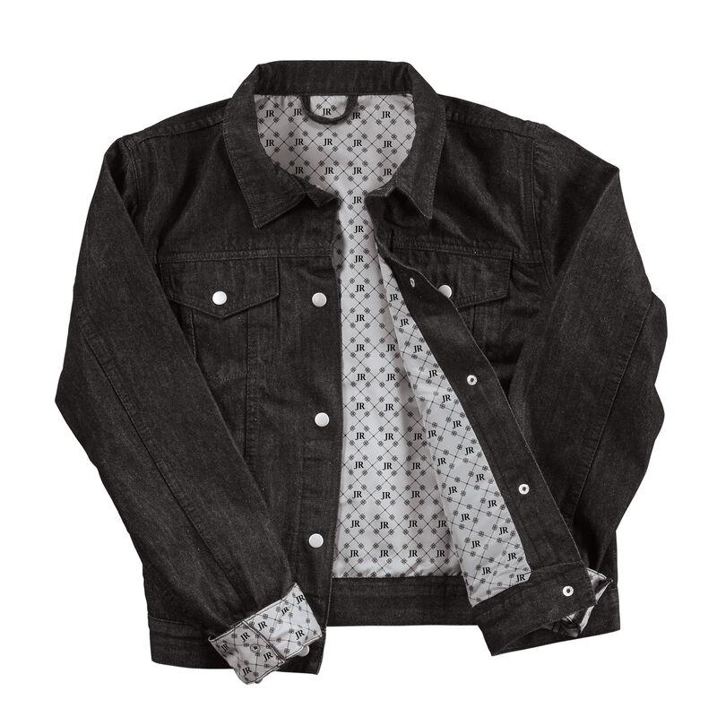 Personalized Black Denim Jacket 6885 0015 b open jacket
