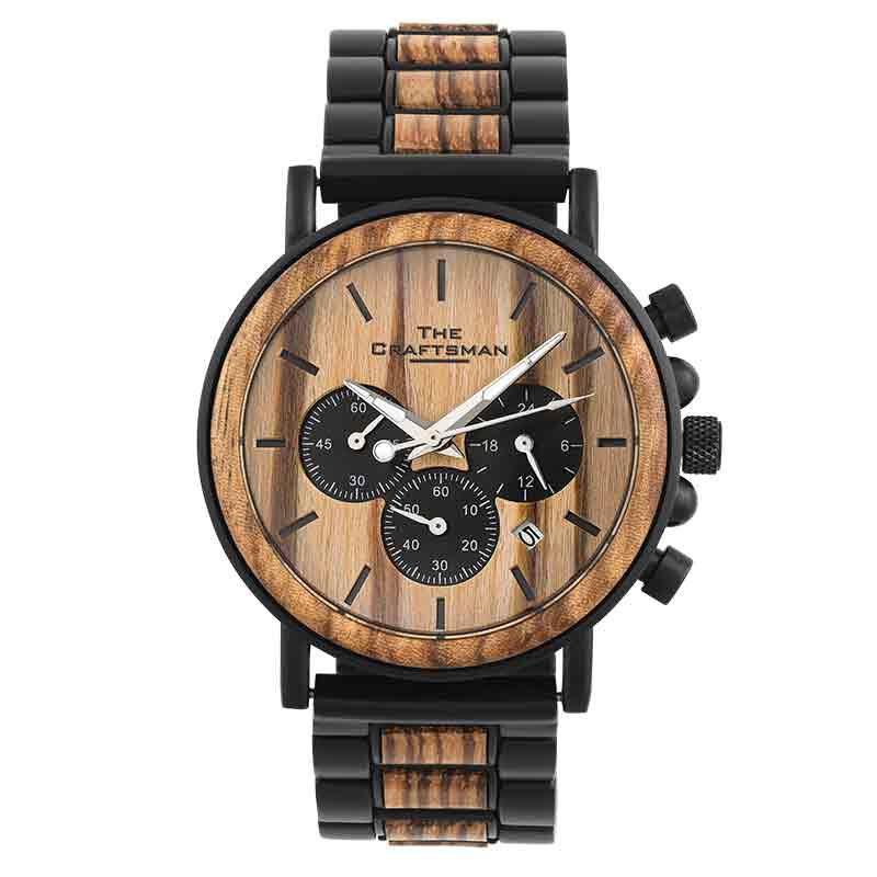 The Craftsman Mens Wooden Chronograph 4915 001 4 2