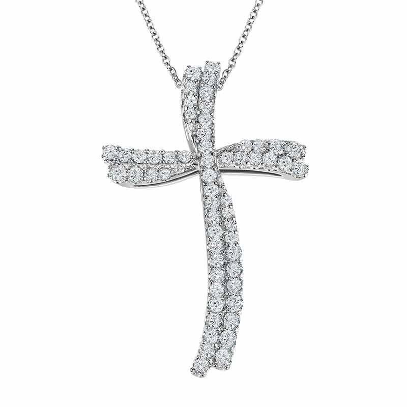 Diamond Divinity 14kt Gold Cross Pendant 6146 001 0 1