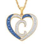 Personalized Birthstone Diamond Initial Heart Pendant 10575 0012 i september c