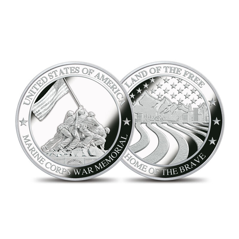 The Symbols of America Silver Commemoratives Collection 6156 0025 a CommMarineCorps