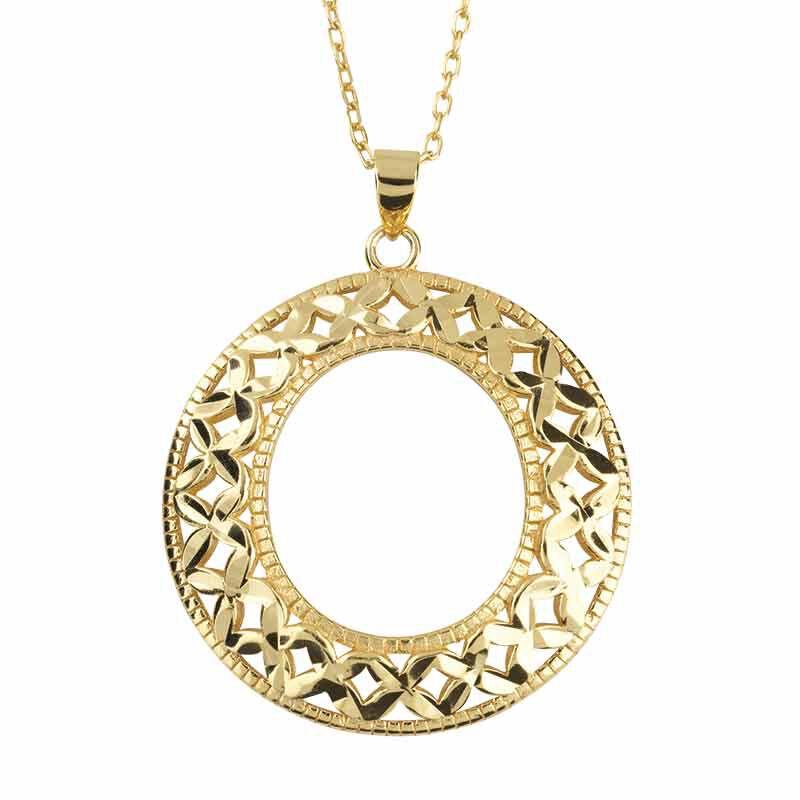 Golden Kisses Diamond Cut Hoops wPendant 2257 004 8 3