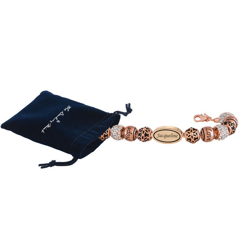 Personalized Copper Charm Bracelet 6493 0019 g pouch