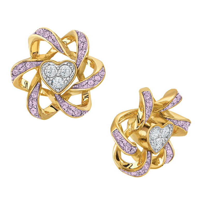 Birthstone Beauty Heart Earrings 2627 0066 f june
