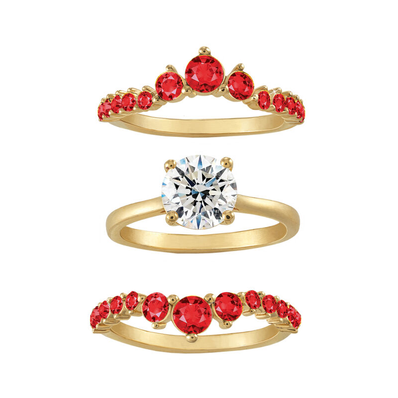 Birthstone Ring Set 6214 0017 m seperate