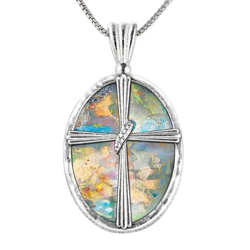 The Pieces of Jerusalem Roman Glass Pendant 2628 001 6 1