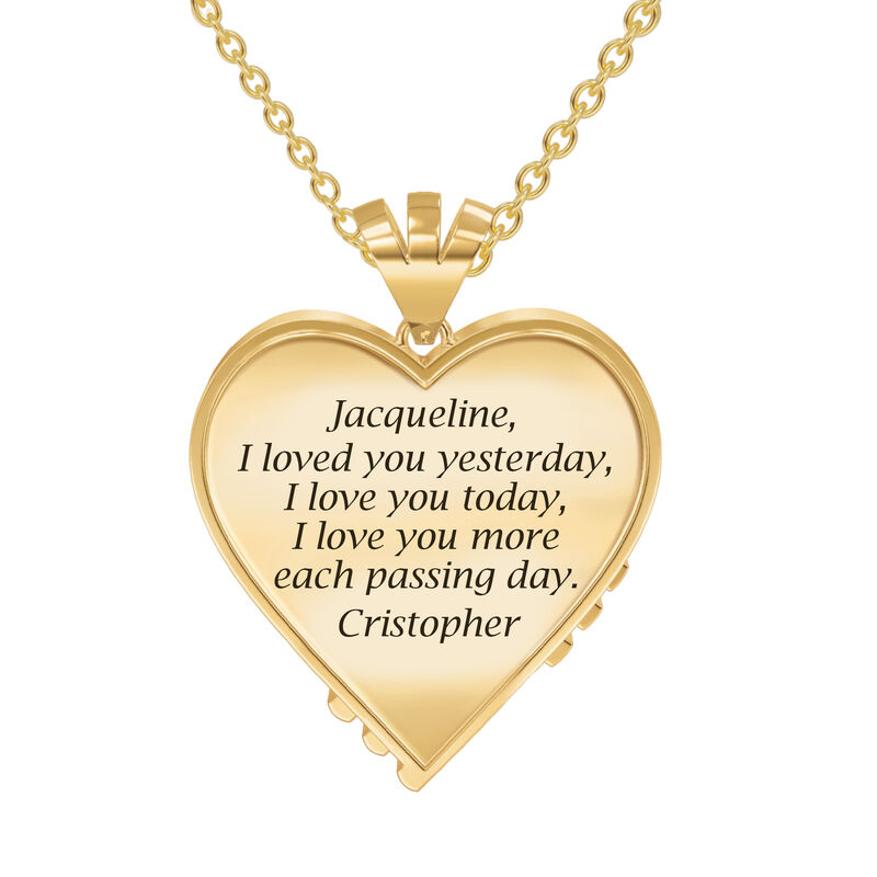 Woven Together Anniversary Heart Pendant 10134 0032 c back