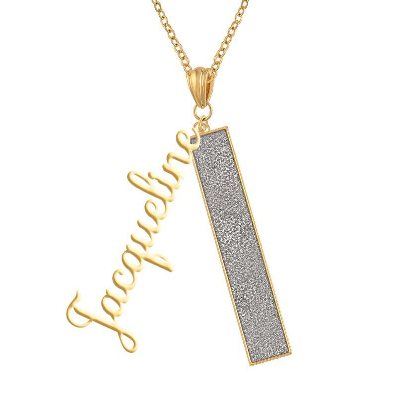 Personalized Birthstone Bar Necklace 6800 001 7 4