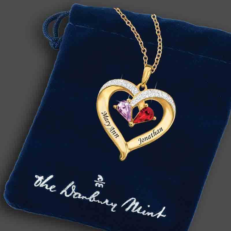 Forever Together Birthstone  Diamond Heart Pendant 9782 003 9 3