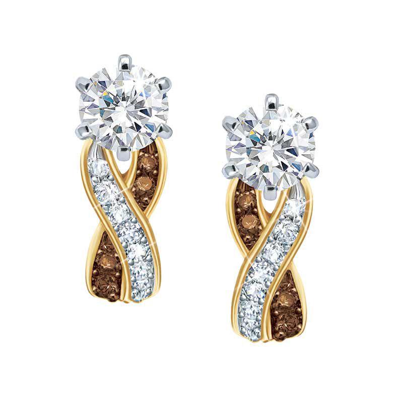 Mocha Swirl Diamonisse Earrings 1010 002 2 1