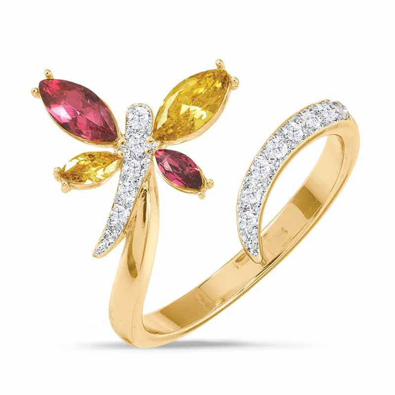 A Colorful Year Crystal Rings   Sizes 5 8 6115 003 3 11