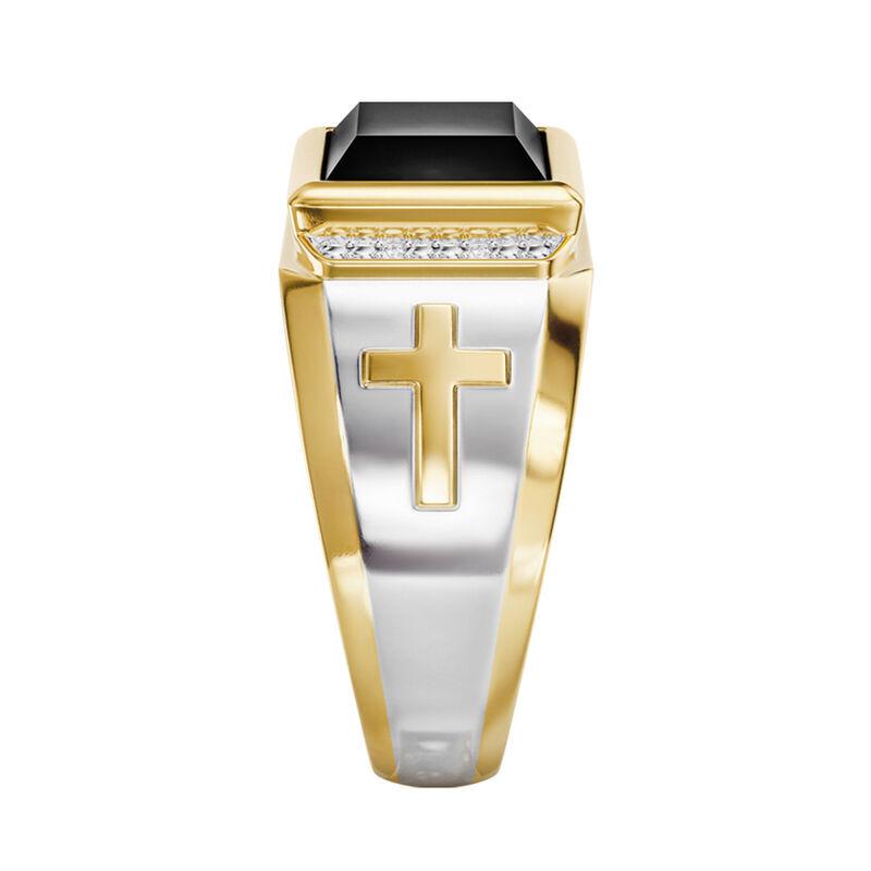 Divine Strength Diamond  Onyx Ring 6783 001 8 3