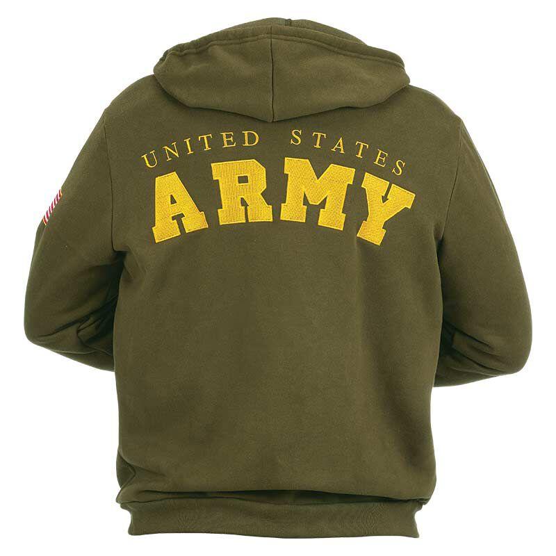 The US Army Zip up Hoodie 5762 001 5 2