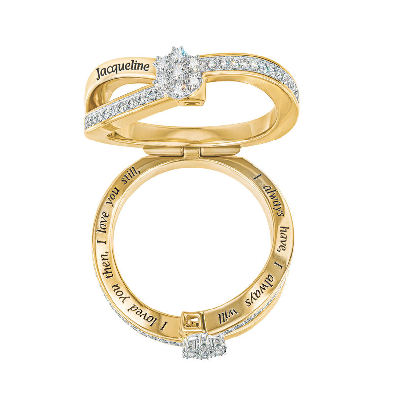 You Me Forever Secret Message Diamond Ring 10206 0019 c open