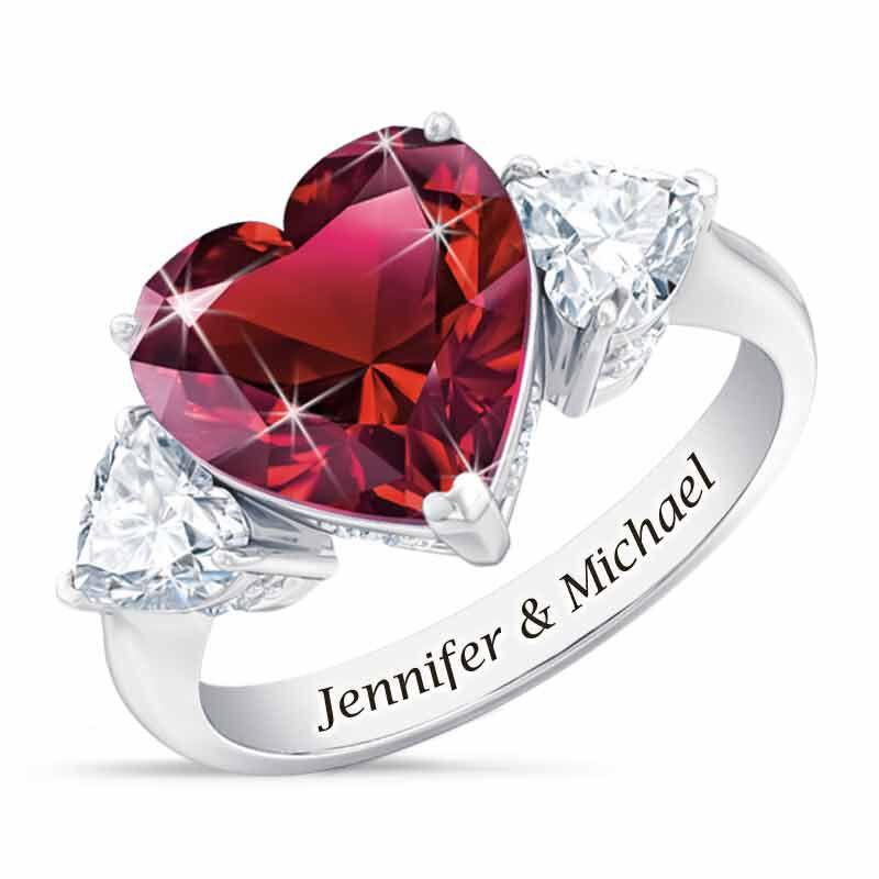 Birthstone Triple Heart Ring 1516 002 1 7