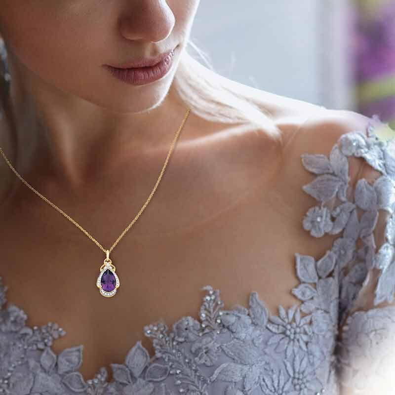 Amethyst  Diamond Pendant 3981 001 5 3