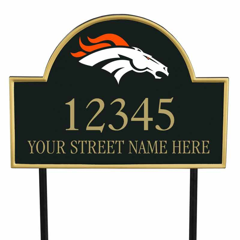 The NFL Personalized Address Plaque 5463 0355 e broncos