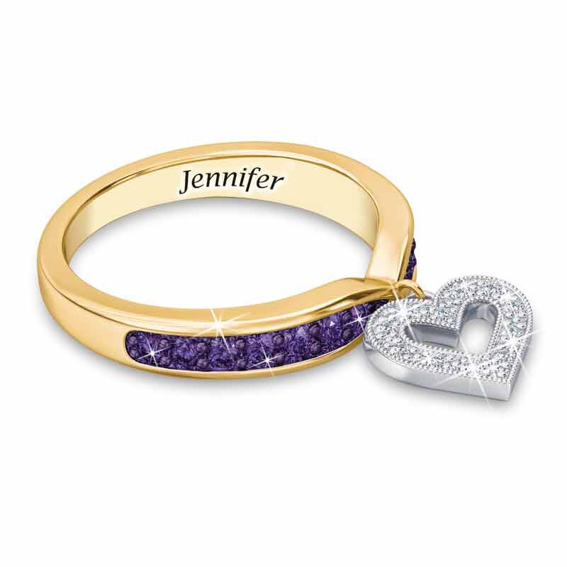 Birthstone  Diamond Charm Ring 2145 002 8 2