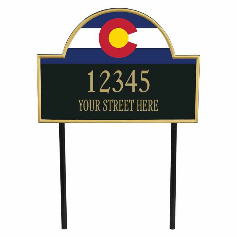 The Colorado Personalized Address Plaque 1073 008 3 1