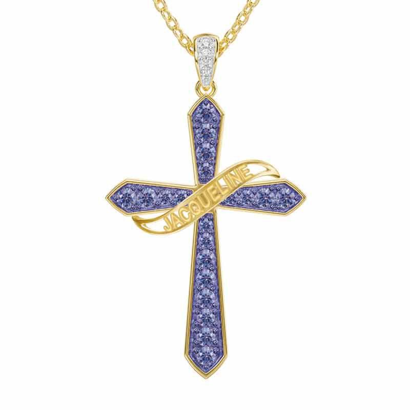 The Birthstone  Diamond Cross Necklace 6787 001 4 6
