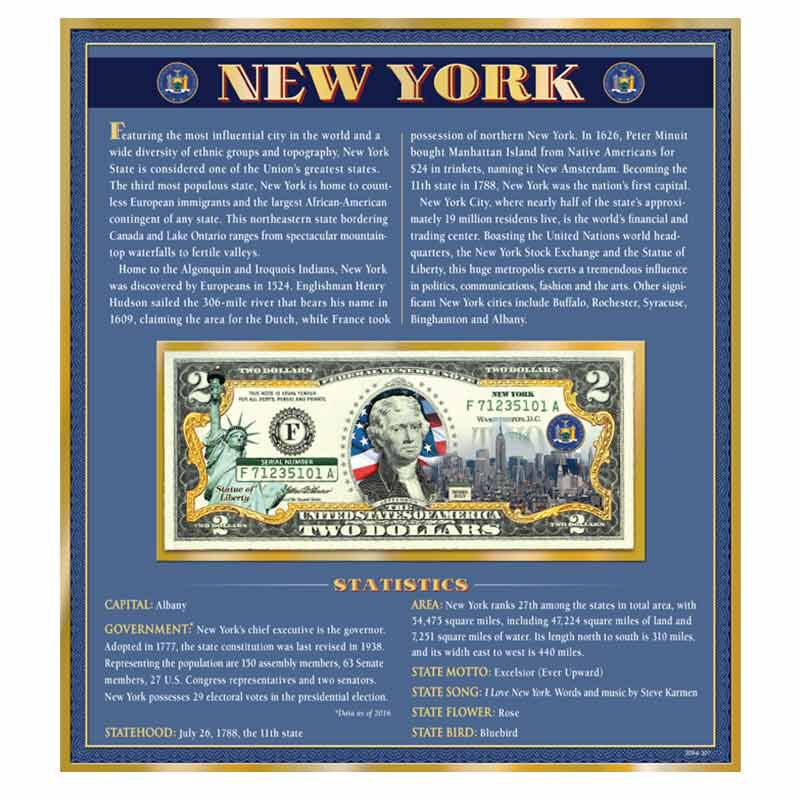 NORTH DAKOTA OFFICIAL Genuine Legal Tender $2 Bill Honoring America/'s 50 States