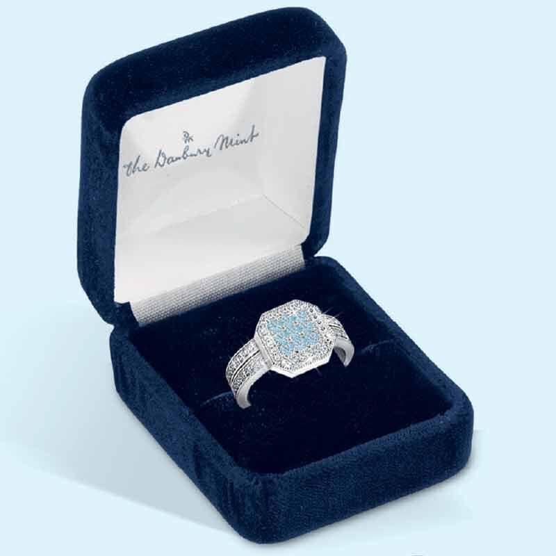 Flair  Square Personalized Birthstone  Diamond Ring 2306 001 5 13