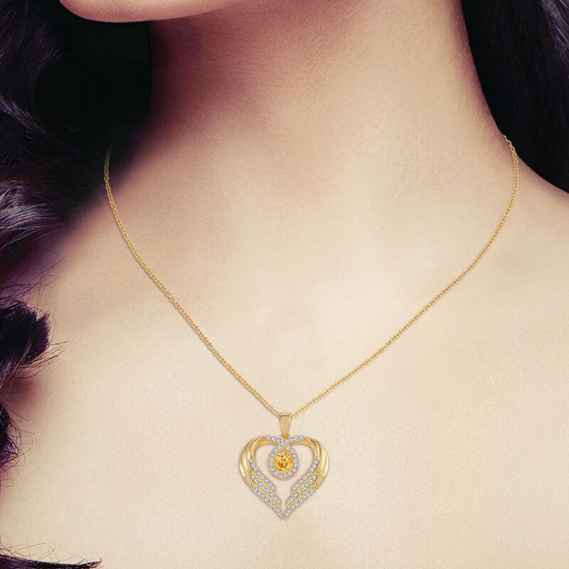 Birthstone Pendant Angel Heart Wing 6721 0013 m model