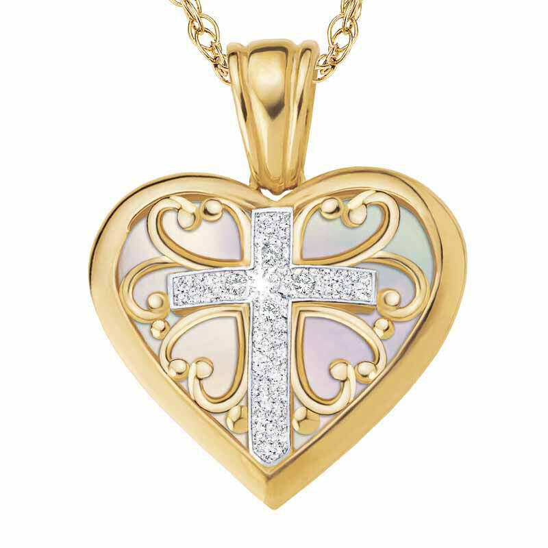 Blessed to be a Mom Diamond Pendant 1678 001 7 2