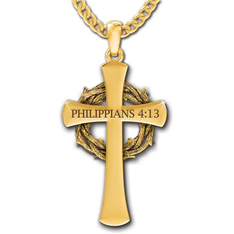 Crown of Thorns Diamond Cross Pendant 5933 001 9 2