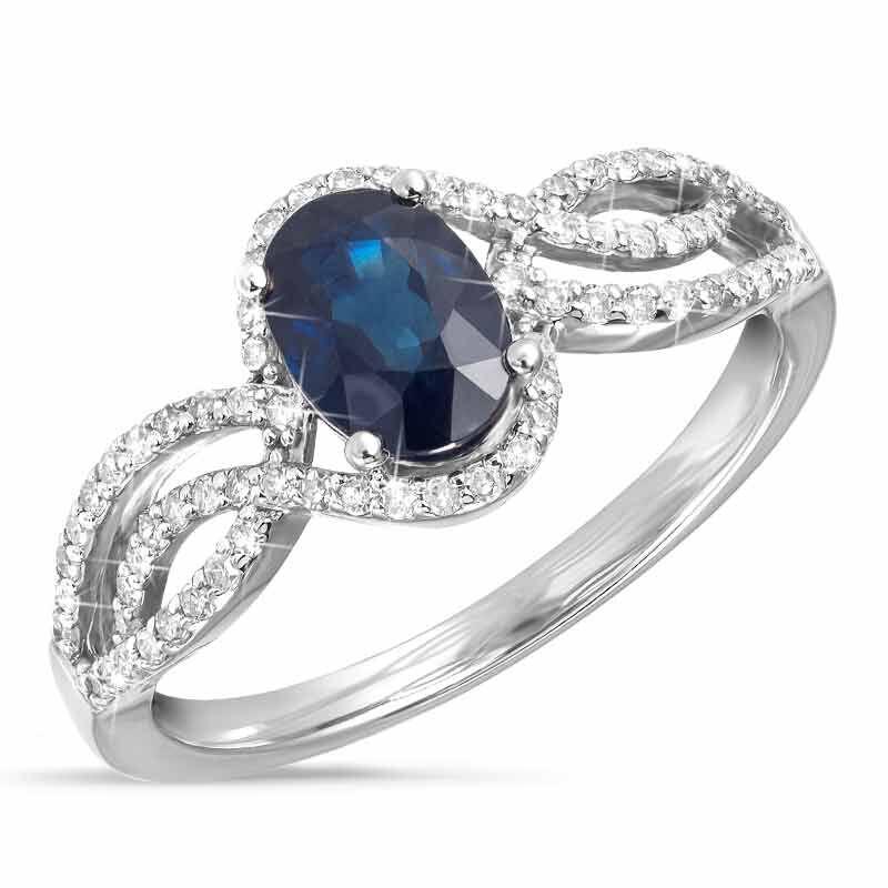 Sapphire Serenade 14kt Gold  Diamond Ring 6169 001 2 1