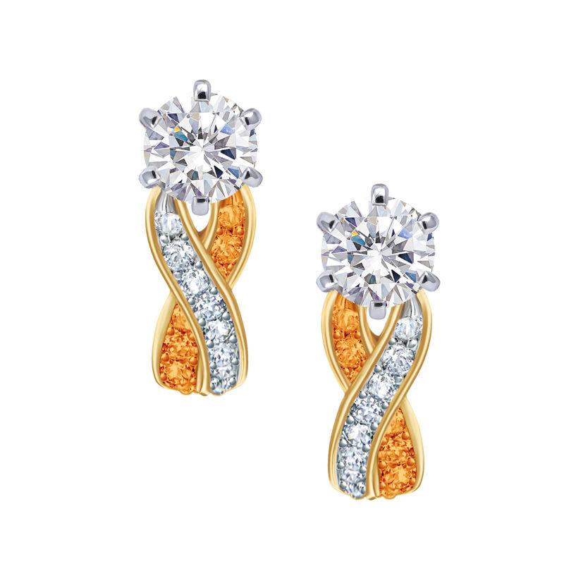 Birthstone Swirl Earrings 6243 0038 k november