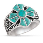 Mens Turquoise Cross Ring 10420 0019 a main