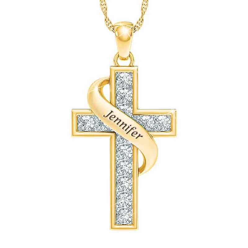 Personalized Birthstone Cross Pendant 5657 001 3 4