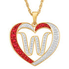 Personalized Diamond Initial Heart Pendant with FREE Poem Card 2300 0060 w initial