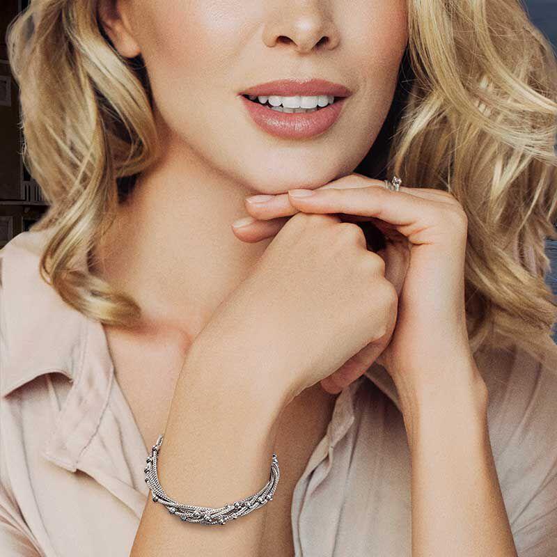 Stella Italia Sterling Silver Bracelet 6356 001 5 4