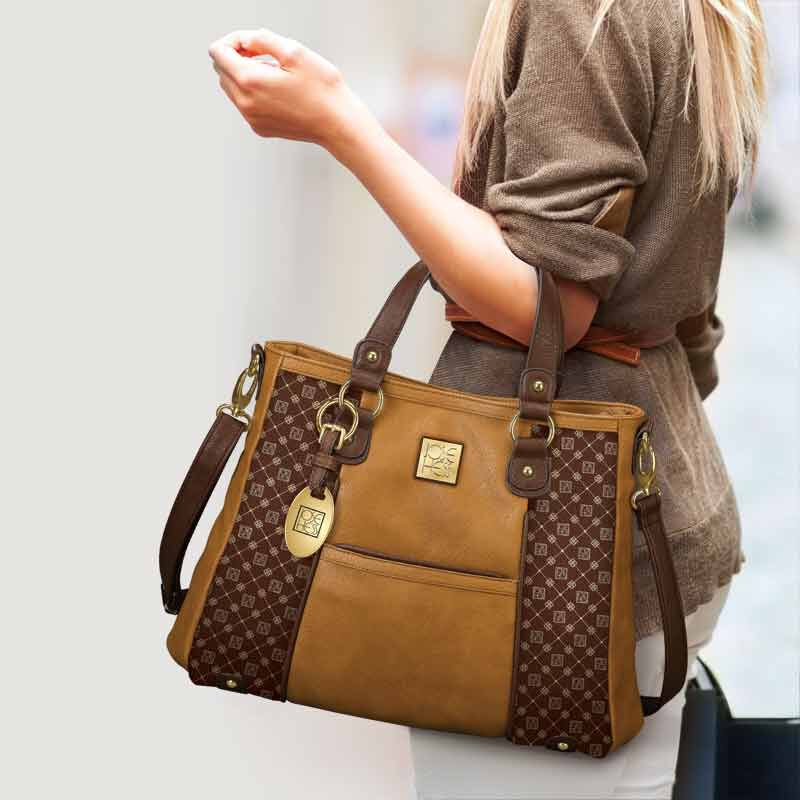 Personalized I Love You Handbag   Brown 5158 002 5 4