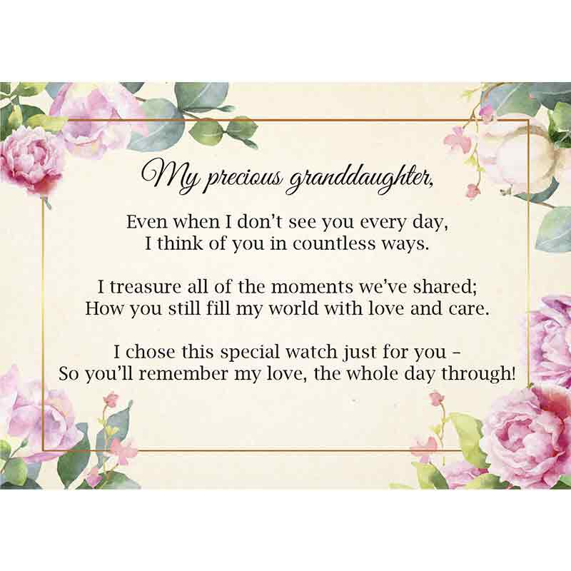 The Personalized Granddaughter Watch with Card 6794 001 5 2