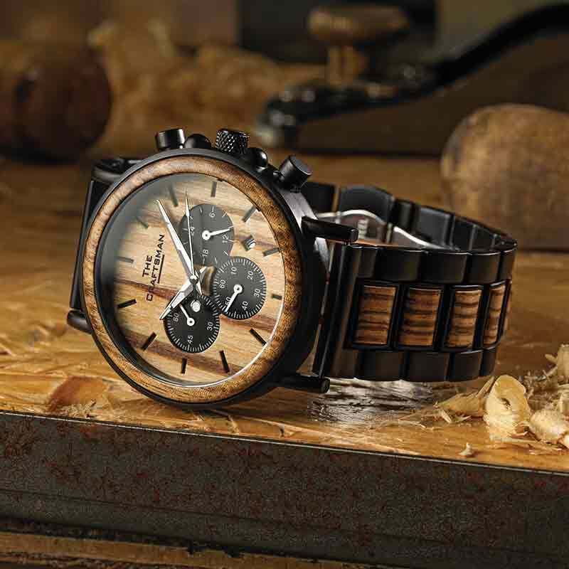 The Craftsman Mens Wooden Chronograph 4915 001 4 5
