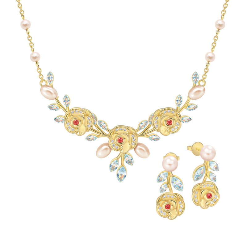 The Juliet Rose Necklace and Earring Set 10192 0015 a main