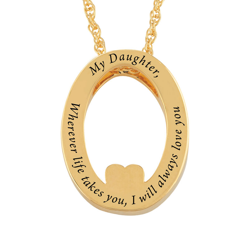 I Will Always Love You Daughter Diamond Pendant 10011 0014 c back