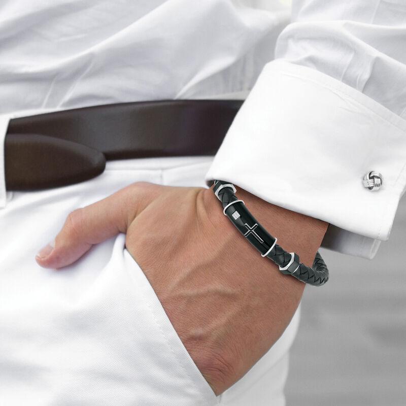 Black Ice Diamond Cross Bracelet 10174 0025 m model