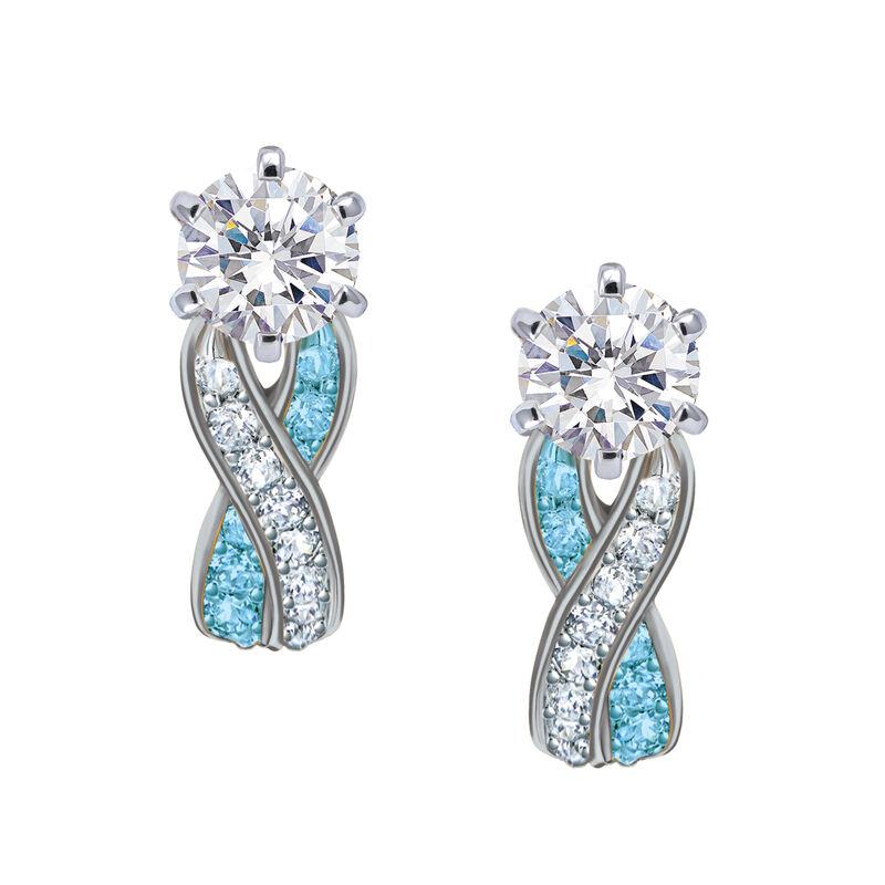 Birthstone Swirl Earrings 10115 0027 c march